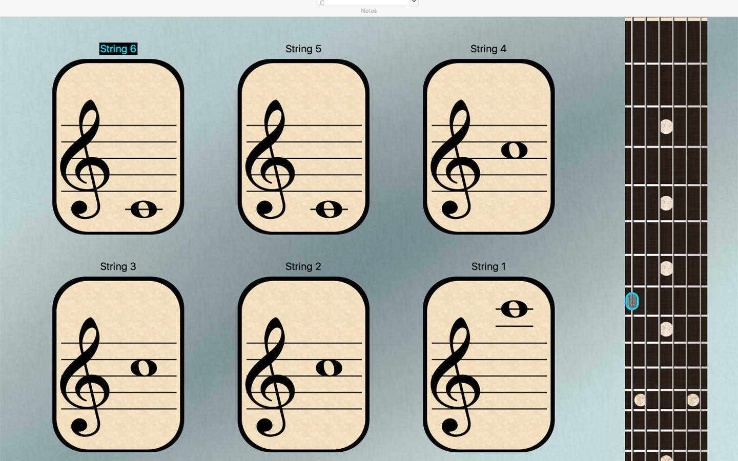 Guitar Notes by String